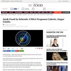 Junk Food In Schools: USDA Proposes Calorie, Sugar Limits