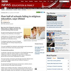 Over half of schools failing in religious education, says Ofsted