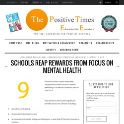 Schools reap rewards from focus on mental health