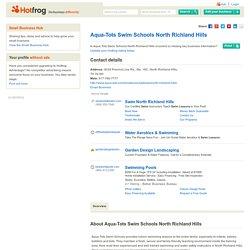 Aqua-Tots Swim Schools North Richland Hills, North Richland Hills TX - Swimming Lesson