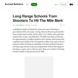 Long Range Schools Train Shooters To Hit The Mile Mark