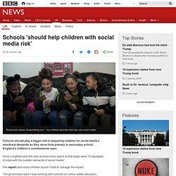 Schools 'should help children with social media risk'