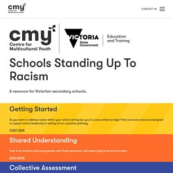 Schools Standing Up To Racism - Centre For Multicultural Youth