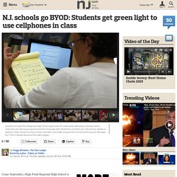N.J. schools go BYOD: Students get green light to use cellphones in class