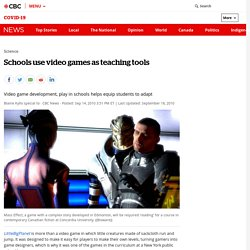 Schools use video games as teaching tools - Technology & Science