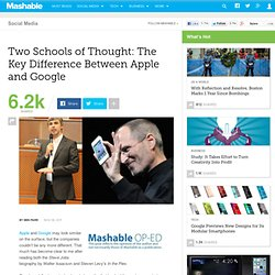 Two Schools of Thought: The Key Difference Between Apple and Google