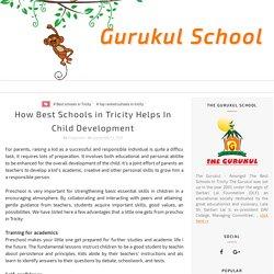 How Best Schools in Tricity Helps In Child Development