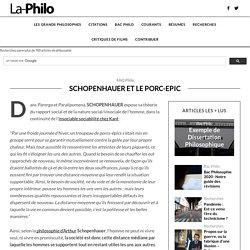 Schopenhauer et le porc-epic