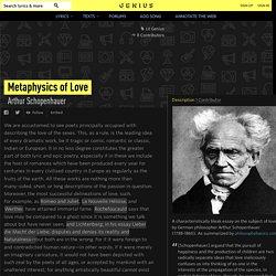 ArthurSchopenhauer – Metaphysics of Love