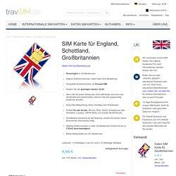 Prepaid Reise SIM Karte für England, Schottland Großbritannien Micro/Nano/Standard SIM