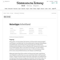 Schottland - Praktische Hinweise - Reisetipps Süddeutsche.de