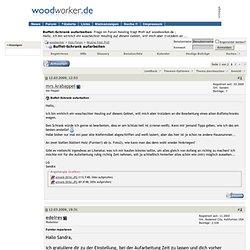 Buffet-Schrank aufarbeiten - woodworker