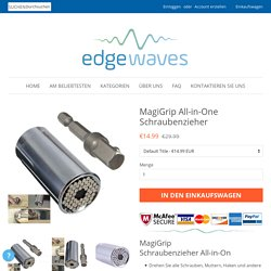 MagiGrip All-in-One Schraubenzieher – EdgeWaves