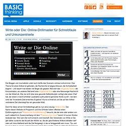 Write oder Die: Online-Drillmaster für Schreibfaule und Unkonzentrierte