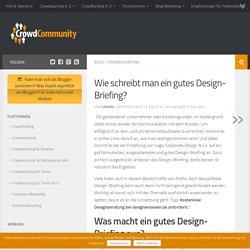 Wie schreibt man ein gutes Design-Briefing? - crowdcommunity.de