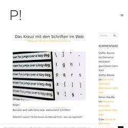 Das Kreuz mit den Schriften im Web 2019