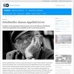 Schriftsteller Aharon Appelfeld ist tot