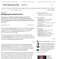Schriftsteller: Wolfgang Herrndorf ist tot