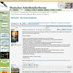 Patchwork - Das Autorenprogramm - Deutsches Schriftstellerforum