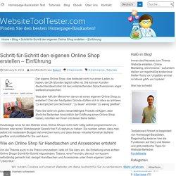 Schritt-für-Schritt den eigenen Online Shop erstellen