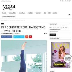 In 7 Schritten zum Handstand - zweiter Teil - Yoga Journal