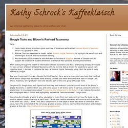 Google Tools and Bloom's Revised Taxonomy | Kathy Schrock's Kaffeeklatsch