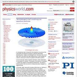 'Schrödinger's hat' could spy on quantum particles