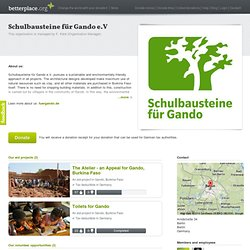 Schulbausteine für Gando e.V: Donate to our organisation