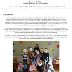 Für Schulen - Europa macht Schule