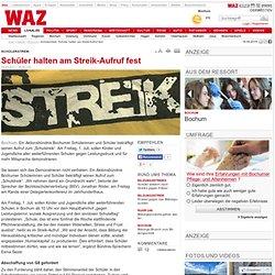 Schülerstreik: Schüler halten am Streik-Aufruf fest - Bochum - DerWesten