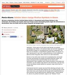 Penis-Alarm: Schüler ätzen riesige Phallus-Symbole in Rasen - SPIEGEL ONLINE - Nachrichten - Panorama