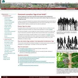 """Schülerinfos > Espace jeunes > Ecosystème """"forêt"""" > Comment connaître l'âge d'une forêt?"""