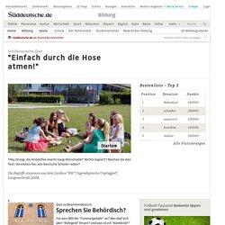 Schülersprache-Quiz - Bildung - Süddeutsche.de