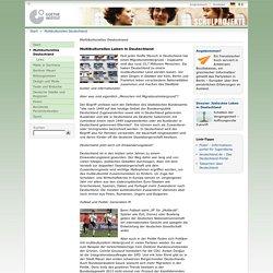 Schulprojekte - Multikulturelles Deutschland-Goethe-Institut