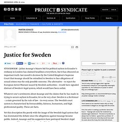 """Justice for Sweden"" by Marten Schultz"