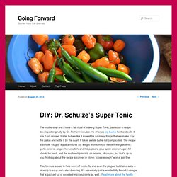 DIY: Dr. Schulze's Super Tonic | Going Forward