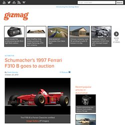 Schumacher's 1997 Ferrari F310 B goes to auction