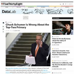 Chuck Schumer Is Wrong About the Top-Two Primary