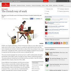 Schumpeter: The French way of work