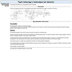 Tjerk Schuringa's heterodyne bat detector