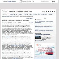 Schutz für E-Mails: Kleine Mail-Dienste überzeugen