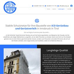 Schutznetze für den Bau - ICO-Bau aus Innsbruck