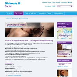 Schwangerschaft- Diakonie Baden