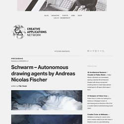 Schwarm - Autonomous drawing agents by Andreas Nicolas Fischer (@__anf)