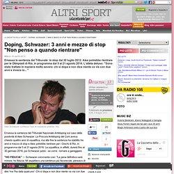 """Doping, Schwazer: 3 anni e mezzo di stop """"Non penso a quando rientrare"""