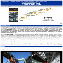Europe > Germany > Wuppertal Schwebebahn (suspension railway)