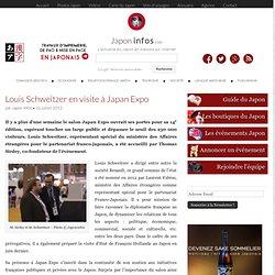 Louis Schweitzer en visite à Japan Expo