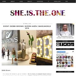 Slovenska Blogerka - she.is.the.one: EVENT: Bobbi Brown