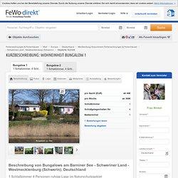 Bungalows am Barniner See - Schweriner Land - Westmecklenburg (Schwerin) mieten - 522329