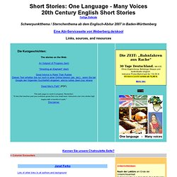 Abitur Schwerpunktthema: One Language - Many Voices
